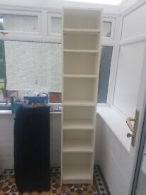 IKEA Billy bookcase 40cm wide - Tall white book shelf cabinet with adjustable shelves - £10