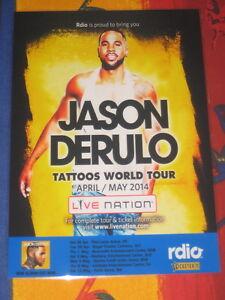 JASON-DERULO-2014-TATTOOS-AUSTRALIAN-TOUR-PROMO-TOUR-POSTER