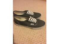 Size 4 gray Vans without box
