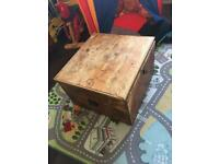 Solid Wood Antique Square Chest