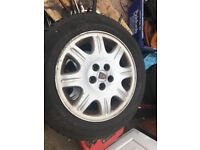 Rover alloy wheels with very good tyres