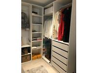 IKEA pax wardrobe white corner
