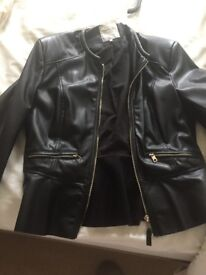 Black womans bikers jacket