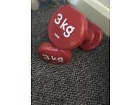 2 x 3kg dumbells