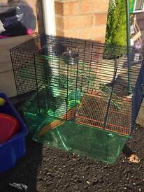 Hamster/chinchilla/Degu cage and accessories