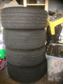 Fair set of BMW E90 158 style alloys and Goodyear tyres 225/45/17
