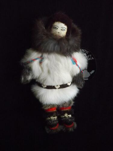 Authentic Native Alaska Doll Agnes Komakluk White Mountain Signed