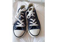 Converse Blue/White Size 13 kids All Star Pumps