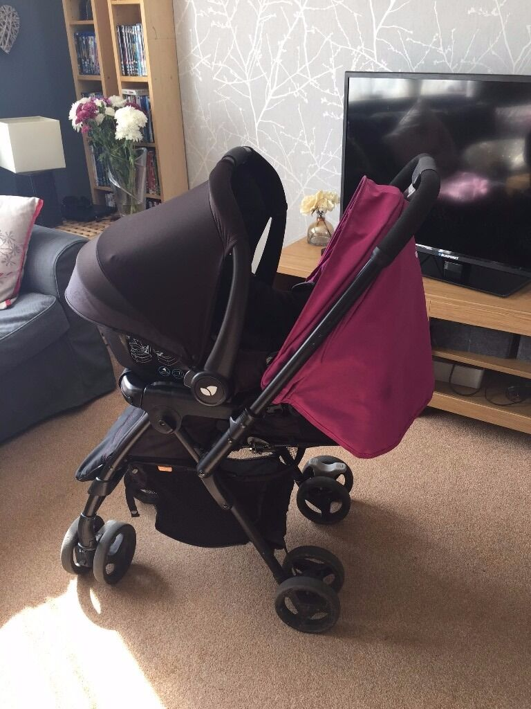 joie 39 mirus scenic 39 buggy pushchair with reversible push bar maxi cosi car seat 0 in. Black Bedroom Furniture Sets. Home Design Ideas