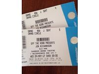 Pair of Jon Richardson (comedian) tickets Wednesday 24th May Swansea Grand Theatre