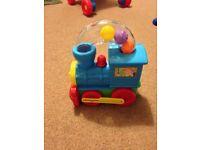 Push along train baby toy