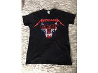 Metallica t shirt top london o2 tour exclusive gig for fighters
