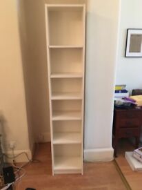 White tall ikea book case