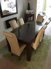Next Solid Wood Table and 6 Chairs