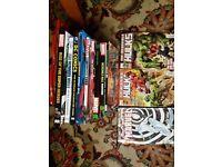 Marvel hard back books and comics
