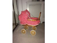 Wicker children's pram