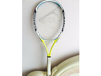 Tennis racket with cover, bargain at £15, I also have other quality tennis rackets available