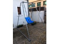 Disabled child swing and frame