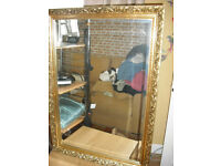 Largee Mirror with Gilt Frame