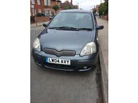 Toyota Yaris. 2004. 1299cc petrol manual.5 door hatchback.
