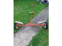 Launching trolley suitable for boat up to around 14 ft