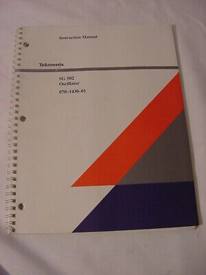 Vtg Tektronix Manual - Sg 502 Oscillator 070-1430-01 Instruction Manual