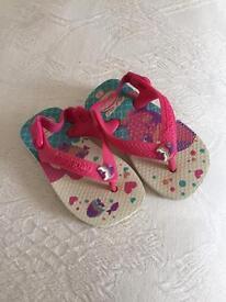 Baby Girls Havaianas Size 19 (2.5/3UK)