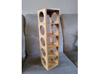 Bamboo Maison & White wall mounted 5 bottle wine rack