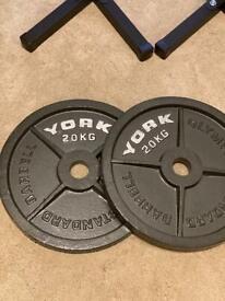 20kg Olympic plates - York fitness iron