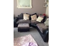 Large corner sofa and one seater