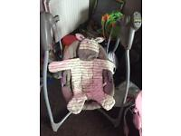 Graco battery operated baby swing