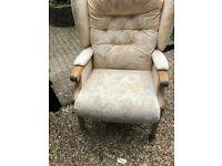 As new upright chair