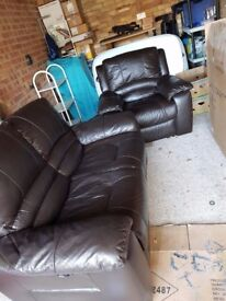 Armchair recliner and 2 seater reacliner (ELECTRIC)