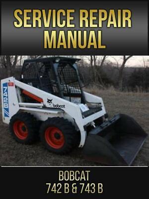 Bobcat 742b 743b Skid Steer Loader Service Repair Manual 6720772 Usb Drive