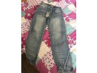bench lady's jeans