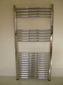 Towel radiator in chrome