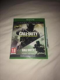 Call of Duty infinite warfare and modern warfare remastered (Xbox one)