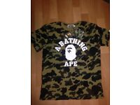 AUTHENTIC GREEN BAPE CAMO TOP FOR SALE