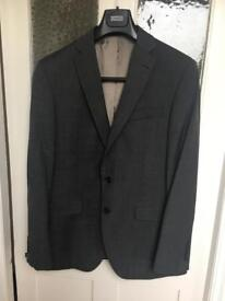 M&S Grey Suit Jacket 50% Wool Slim Fit 42 Chest