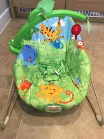 Fisher Price Baby Bouncer Chair Rainforest VGC
