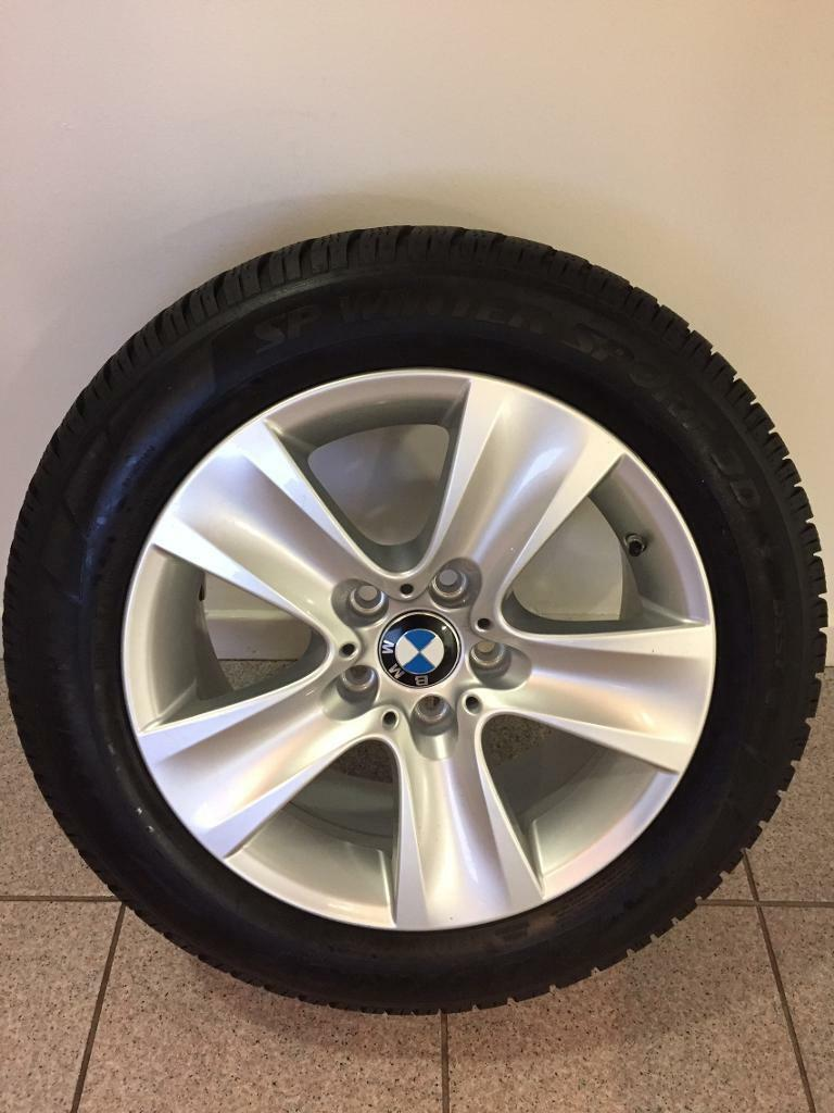 Genuine BMW wheels with winter tyres x4