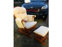 Nursing Recliner Rocking Baby Chair and Foot stool