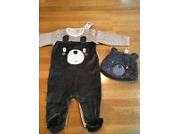 BNWT RRP£24 Next 3-6months baby grow and hat
