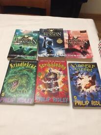 Set of 6 books - Philip Ridley & Rick Riordan