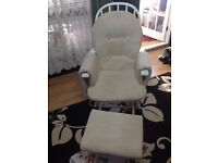 Reclining Glider Chair And Footstool ONLY £30