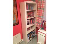 Children's White Bookcase