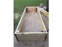 Raised vegetable beds x2 (3m x 1.5m) only 6 months old!