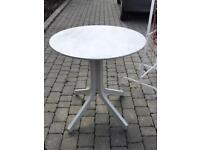 Small dining table 70cm w x 73cm h painted grey