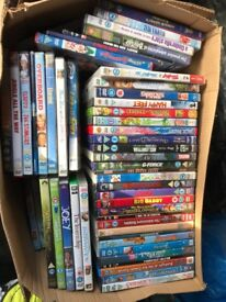 Boxes of kids Dvds 50p per dvd.