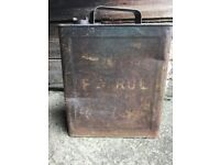Vintage 1940s petrol can